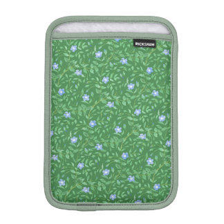 Periwinkle Blue Dark Green Country-style Floral iPad Mini Sleeves
