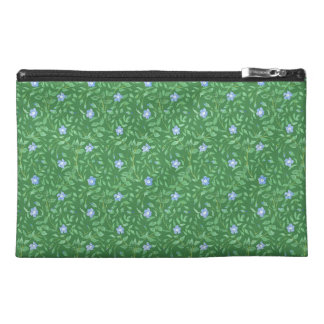 Periwinkle Blue Dark Green Country-style Floral Travel Accessories Bag