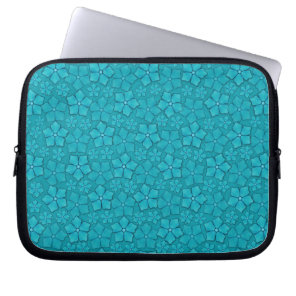 Periwinkle blue floral design laptop sleeve