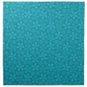 Periwinkle blue floral design napkin