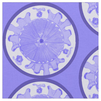 Periwinkle blue Floral Light Passion flower fabric
