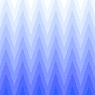 Periwinkle Blue Grant Ombre Chevron Pattern Throw Pillow