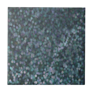 Periwinkle Blue Painted Glitter Shimmer Ceramic Tile