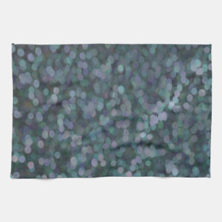Periwinkle Blue Painted Glitter Shimmer Hand Towels