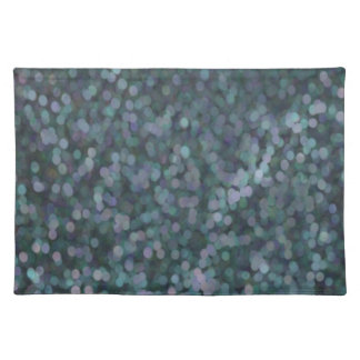 Periwinkle Blue Painted Glitter Shimmer Placemat