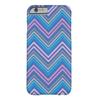 Periwinkle Blue Pink and Gray Chevron Pattern Barely There iPhone 6 Case