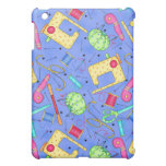Periwinkle Blue Sewing Notions  iPad Mini Cover