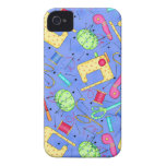 Periwinkle Blue Sewing Notions iPhone 4 Case