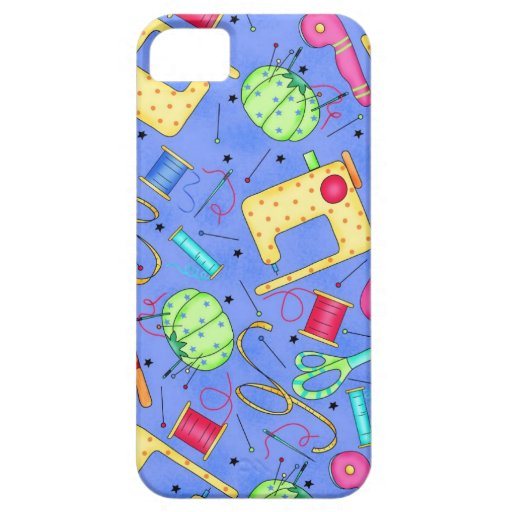 Periwinkle Blue Sewing Notions iPhone Case iPhone 5 Cover