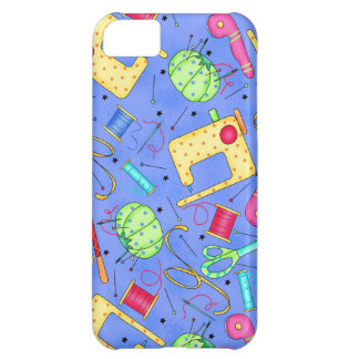 Periwinkle Blue Sewing Notions iPhone Case