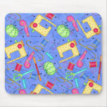 Periwinkle Blue Sewing Notions Mousepad