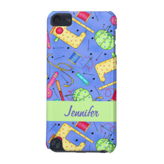 Periwinkle Blue Sewing Notions Name Personalized iPod Touch 5G Cover