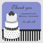Periwinkle Bridal Shower Thank You Stickers