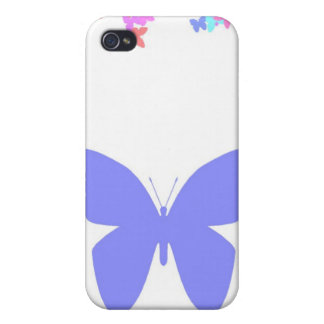 Periwinkle Butterfly Cases For iPhone 4