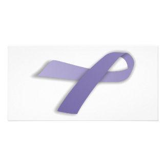 Periwinkle Cancer and Political Statement Ribbon Photo Card
