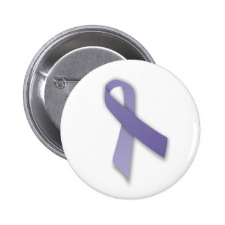 Periwinkle Cancer and Political Statement Ribbon Pinback Button