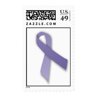 Periwinkle Cancer and Political Statement Ribbon Stamp