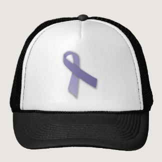 Periwinkle Cancer and Political Statement Ribbon Trucker Hat