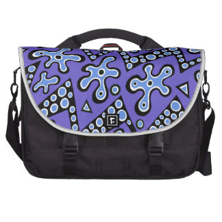 Periwinkle Cell Flashes Laptop Computer Bag