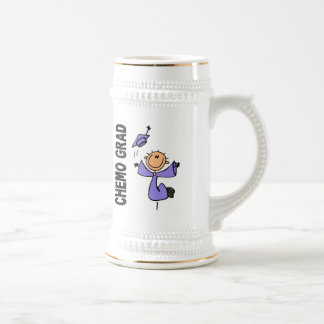 Periwinkle CHEMO GRAD 1 (Esophageal Cancer) 18 Oz Beer Stein