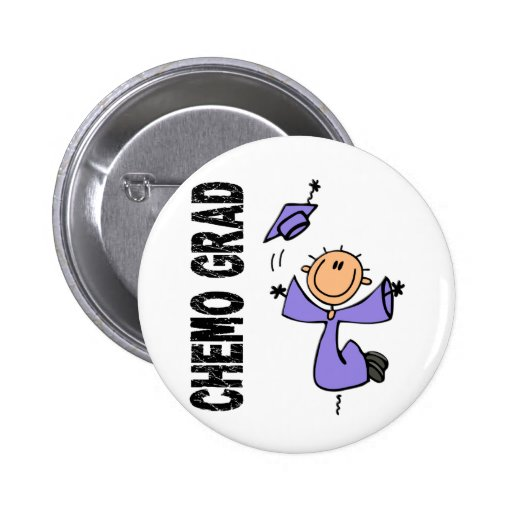 Periwinkle CHEMO GRAD 1 (Esophageal Cancer) Pinback Buttons