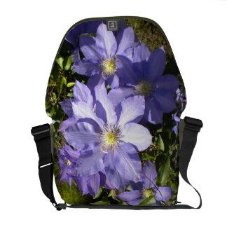 Periwinkle Clematis Rickshaw Messenger Bag