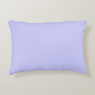 Periwinkle Color Background Light Purple Violet Accent Pillow