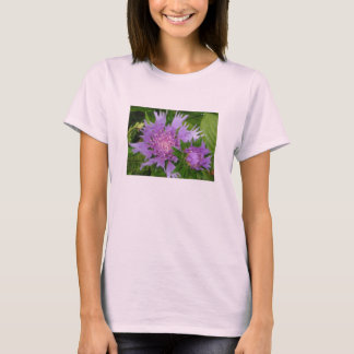 periwinkle-colored flowers Stokes' Aster T-Shirt