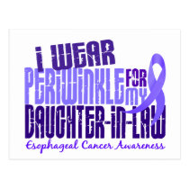 Periwinkle Daughter-In-Law 6.4 Esophageal Cancer Postcard