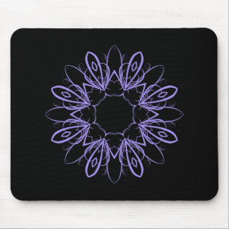 Periwinkle fancy mandala mouse pad