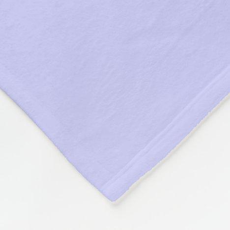 Periwinkle Fleece Blanket