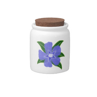 Periwinkle Flower Candy / Sugar Jar Candy Dishes