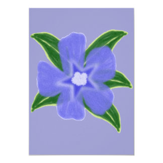 Periwinkle Flower Invitation