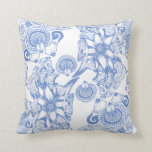 Periwinkle Flower of Power Throw Pillows