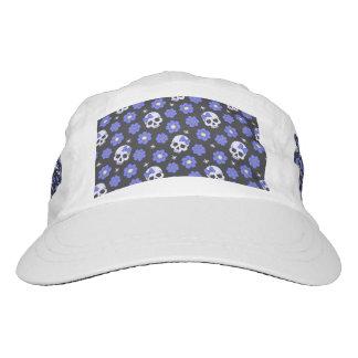 Periwinkle Flower Power Skulls Hat