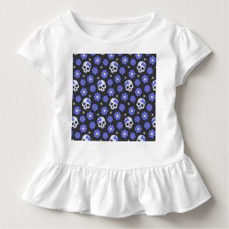 Periwinkle Flower Power Skulls Toddler T-shirt