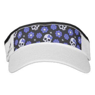 Periwinkle Flower Power Skulls Visor