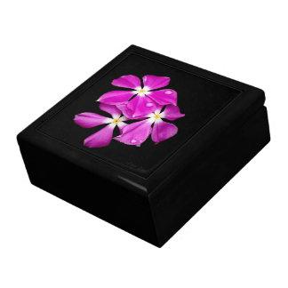 'Periwinkle Flowers After Rainfall' Keepsake Box