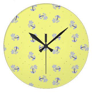 Periwinkle Flowers clock