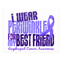 Periwinkle For Best Friend 6.4 Esophageal Cancer Postcard