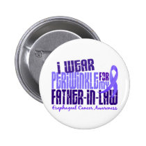 Periwinkle For Father-In-Law 6.4 Esophageal Cancer 2 Inch Round Button