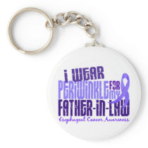 Periwinkle For Father-In-Law 6.4 Esophageal Cancer Keychain