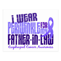 Periwinkle For Father-In-Law 6.4 Esophageal Cancer Postcard