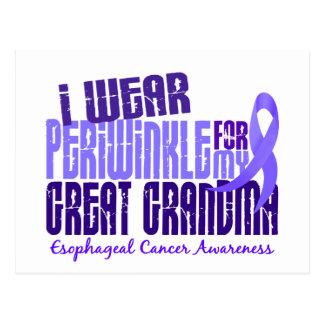 Periwinkle For Great Grandma 6.4 Esophageal Cancer Postcard
