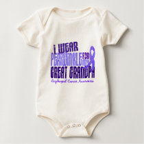 Periwinkle For Great Grandpa 6.4 Esophageal Cancer Baby Bodysuit