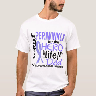 Periwinkle For Hero 2 Dad Esophageal Cancer T-Shirt