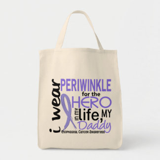 Periwinkle For Hero 2 Daddy Esophageal Cancer Tote Bag