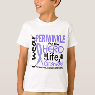 Periwinkle For Hero 2 Grandpa Esophageal Cancer T-Shirt