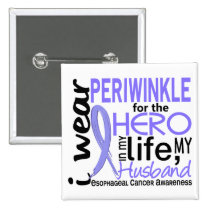 Periwinkle For Hero 2 Husband Esophageal Cancer Button