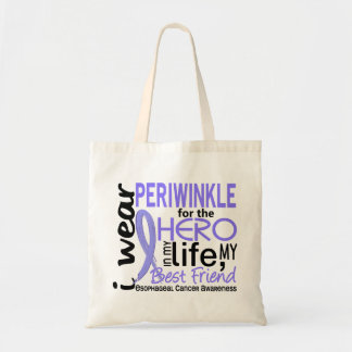 Periwinkle For Hero Best Friend Esophageal Cancer Tote Bag